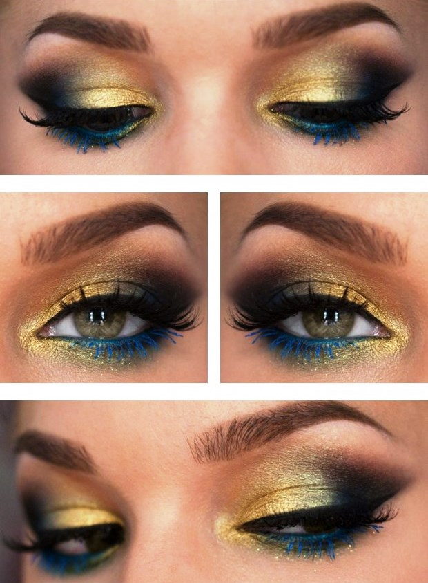 Peacock Inspired Eye Shadows: Step By Step Tutorial