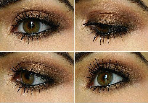 eyeshadow tutorial using mac bronze eyeshadow
