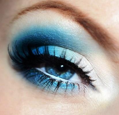 intense blue arabic eye makeup  amazingmakeups