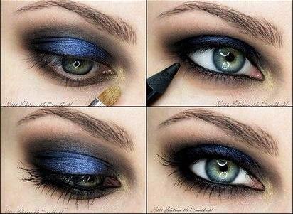 Metallic Blue Eyeshadow Tutorial Amazingmakeups Com