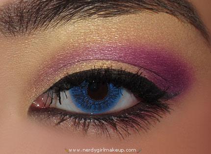 Indian Purple and Gold Eyeshadow Tutorial | AmazingMakeups.com