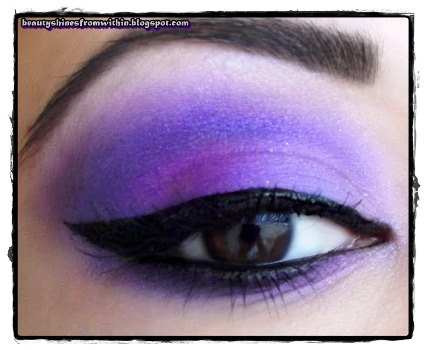 Purple Fantasy Wedding Makeup for Dark Skin ...