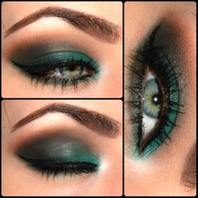 Colorful Smokey Green Eyes Amazingmakeups Com