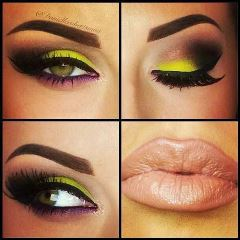 How To Achieve A Wearable Yellow Smokey Eyeshadow