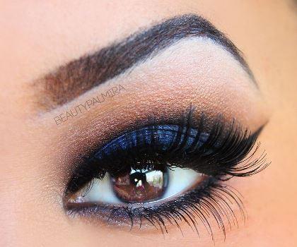 as requested  smokey blue eyeshadow  amazingmakeups