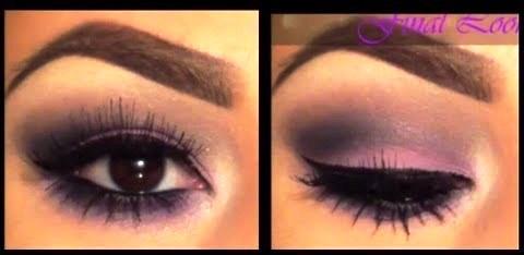 easy purple smokey eyeshadow and makeup ideas