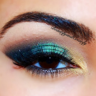 Shimmery Turquoise And Gold Eyeshadow Tutorial