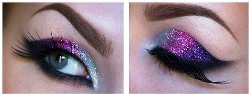 Diy Smokey Glitter Eyeshadow Amazingmakeups Com