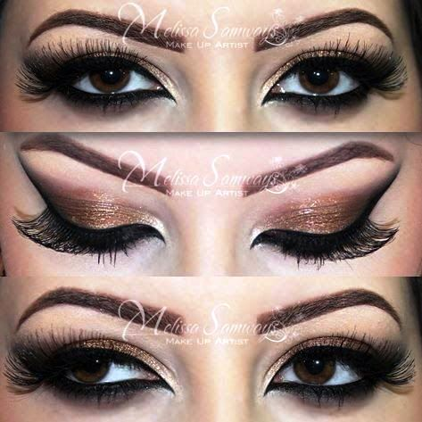 Eye makeup for brown