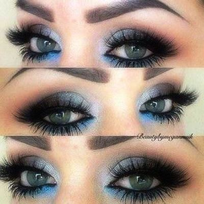 Blue Coral Evening Eye Makeup For Brown Eyes