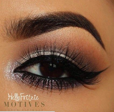 dramatic silver and black eyeshadow tutorial