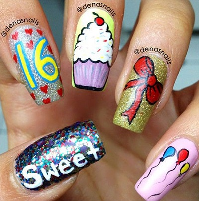 Happy Birthday Nail Art Designs Ideas Amazingmakeups