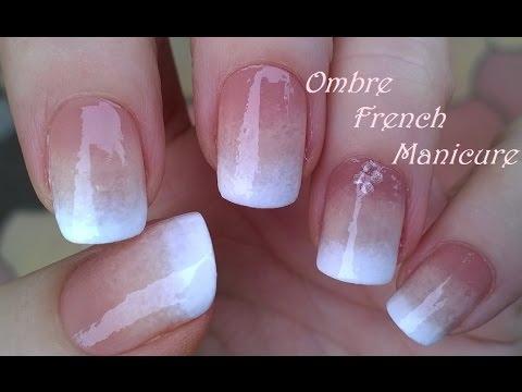 Ombre French Manicure Design Pure Sponge Nail Art Tutorial