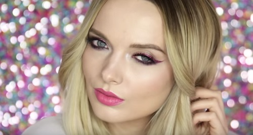 Easy Glam Pink Makeup