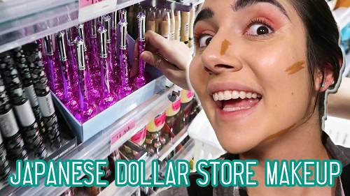 Japanese Dollar Store Makeup Challenge