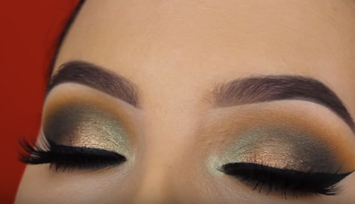 Smokey Golden Olive Eye Makeup Tutorial