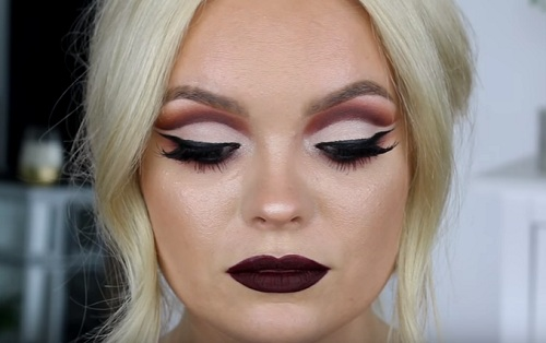 FALL Vampy Cut Crease Makeup