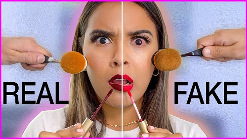 Fake Vs Real Makeup
