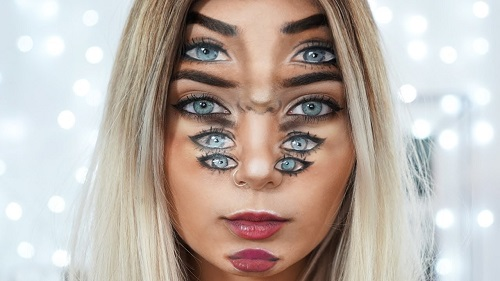 TRIPPY VISION ILLUSION HALLOWEEN MAKEUP TUTORIAL