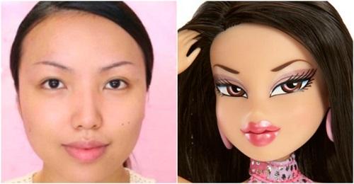 BRATZ DOLL Makeup Transformation