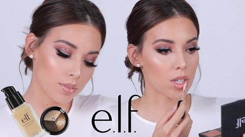 Full Face Using ELF Makeup